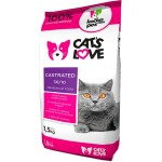 Cat´s love Castrated - 1,5Kg