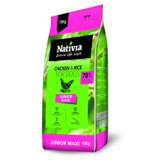 Nativia Junior maxi - Chicken&Rice 15 kg