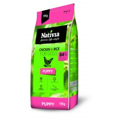 Nativia Puppy - Chicken&Rice 15 kg