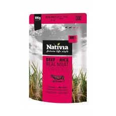 Nativia Real Meat - Beef&Rice 8 kg